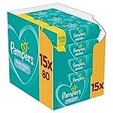 Pampers Fresh Clean Feuchttücher 15 Packungen (15 x 80 Stück)