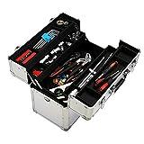Yaheetech Alu Werkzeugkoffer Multikoffer Werkzeugkiste Koffer mit Schlüssel und Tragegurt