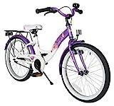 BIKESTAR Premium Sicherheits Kinderfahrrad 20 Zoll für Mädchen ab 6-7 Jahre ★ 20er Kinderrad Classic ★ Fahrrad für Kinder Lila & Weiß