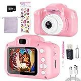 Kinder Kamera für Mädchen,Digitalkamera 3-12 Jahre Geburtstagsgeschenk für Kinder,kinderkamera Spielzeug Jungen,mit HD 1080P/2 Inch Bildschirm/32G TF Fotoapparat Kinder