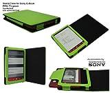 Spartechnik Grünes Case für Sony PRS-T3 - bestes Case Hülle Etui Tasche für Sony E-Book Reader Elektronisches Buch mit Schlafmodus Funktion und integriertem Ständer für PRS T3- grün