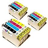 12x Epson Stylus SX510W Kompatible Druckerpatronen - Cyan/Magenta/Gelb/Schwarz - PATRONEN MIT NEUESTEN CHIP
