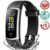 Fitness Armband mit Pulsmesser, Wasserdicht IP68 Pulsuhr Fitness Tracker Farbbildschirm...