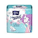 Bella For Teens Ultra Binden Sensitive: Ultradünne Binden Für Teenager, 6er Pack (6 X 10 Stück), Mit Flügeln ohne Duft