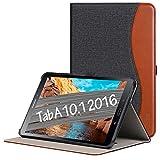 ZtotopCase Hülle für Samsung Galaxy Tab A 10,1 2016,für Modell SM-T580/SM-T585 (Keine S Pen-Version),Leder Geschäftshülle mit Ständer,Auto Schlaf/Aufwach Funktion,Denim Schwarz