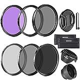 Neewer 52MM Objektiv Filter Set und Gegenlichtblende, Objektivdeckel für Nikon D7100 D7000 D5200...