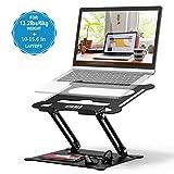 POVO Laptop Ständer Multi-Angle Höhenverstellbar mit Heat-Vent und Aufbewahrungsschale Notebook...