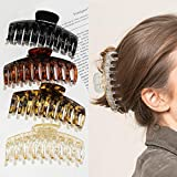4 Stück Große Haarklammer,4,3 Zoll Große Haarspangen für dickes Haar Rutschfestes Haar Jaw Clips Haarstyling-Zubehör für Frauen Mädchen
