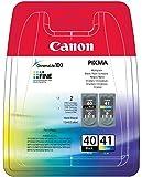 Canon PG-40, CL-41Schwarz Tintenpatrone Tintenpatrone für Tintenstrahldrucker (CL-41, Schwarz,–-Pixma IP1600-Pixma iP1700–-Pixma iP1800-Pixma iP2600–-Pixma MP150-Pixma MP160–-Pix, Tintenstrahl)