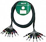 ah Cables KMCO3PPM38 Multicore Kabel 8 x 6,3 mm Klinke stereo auf 8 x 6,3 mm Klinke stereo 3 m
