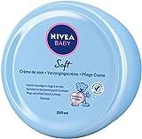 NIVEA BABY Soft Care Cream, crema hidratante para bebés con caléndula que nutre y protege durante 24 horas, 200 ml