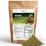 Hanfprotein Pulver - 1100 g / 1,1 kg - 50% Proteingehalt - Herkunft: Niederlande - Laborgeprüfte Qualität - Veganes Eiweißpulver - 100% Hanfproteinpulver - Frei von Gluten, Soja und Laktose