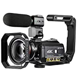 4K Camcorder, ORDRO AC3 Ultra HD Camcorder Videokamera 1080P 60FPS WiFi Video Kamera mit IR...