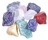 Wassersteine Premium Mischung   10 Stück beliebte Steine für Edelsteinwasser   100% Natursteine mit Baumwollbeutel   Lebensquelle Plus (Variante 1)