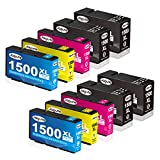 Jagute Ersatz für Canon PGI-1500XL PGI 1500 Druckerpatronen für Canon Maxify MB2000 MB2350 MB2750 MB2150 MB2755 MB2155 MB2050 MB2300 10er-Pack (4 Schwarz, 2 Blau, 2 Rot, 2 Gelb)