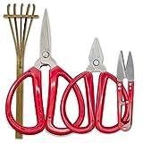 R&R SHOP Bonsai Precision Schere Kit - Trimmen, Bonsai Pruning, Präzisionsschnitte und kleine Zweige und Wurzeln, Bamboo Rakè - 4er-Set