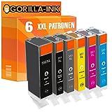 Gorilla-Ink 6 Patronen XXL kompatibel mit Canon PGI-550 XL CLI-551 XL mit Grau/Grey Pixma MG 6300 MG 6350 MG 6350 S