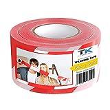 Absperrband - Flatterband - Warnband - Trassierband - Rot-Weiß - ausziehbar reißfest für Baustellenabsperrungen, Gefahrenstellen UVM. (1 Rolle 100 m Absperrband)