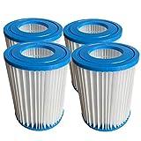 WYWZDQ Flowclear Filterkartuschen für Bestway Filterpatrone II, Filter Kartuschen für Pool Swimmingpool Pumpen Typ II, Größe 10,4 x 13,5 cm. (4 STK)