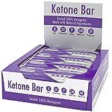 Ketone Bar (Schachtel mit 12 Bars)   Ketogener Imbiss   Enthält Ketone, die reines C8-MCT   Paleo & Keto   Glutenfrei   Schokoladen-Karamell-Geschmack   Ketosource®