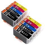ESMOnline 10 komp. Druckerpatronen zu Canon PIXMA MP500 MP520x MP530 MP600R MP610 MP800R MP810 MP830 MX700 MX850 iP4200x iP4300 iP4500x iP5200R iP5300 iP6600D iP6700D iX5000 iX4000