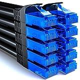 deleyCON 10x 0,25m CAT6 Netzwerkkabel Set - U-UTP RJ45 CAT-6 LAN Kabel Patchkabel Ethernetkabel DSL...