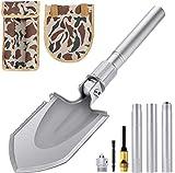 RenFox Klappspaten Multifunktional-Klappschaufel rostfreier Stahl, Länge: 43-75 cm Abnehmbar Schaufel für Überleben/Garten/Camping