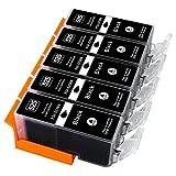 ESMOnline 5 komp. Druckerpatronen zu Canon PGI-525PGBK Pixma IP 4850 4950 IX 6550 MG5 100 5150 5200 5250 5300 5350 6150 6250 8150 8250 MX 715 885 895