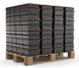 150 kg - 1200 kg Palette Briketts Union Kohle Brikett Kamin Ofen Heizbriketts im 10/25kg Bündel Kaminbriketts Gluthalter (500)