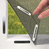Hoberg 07660 Fenster-Fliegengitter mit innovativer Magnetbefestigung   Bis zu 150 x 130 cm individuell zuschneidbar, kein Bohren oder Schrauben, 16 Magnet-Clips, schwarz