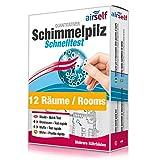 Schimmeltest (Schimmel-Schnelltest) für bis zu 12 Räume – Schimmel Test zur Untersuchung der Schimmelpilzbelastung in Innenräumen