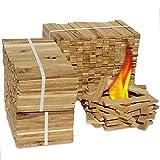 Premium Eiche Anmachholz (Neue Version 2019) – Besonders sauberes und trockenes Brenn-Holz – Ideales Anfeuerholz für eine kuschelige Raumwärme - Perfektes Zubehör um Brennholz im Kamin zu entfachen