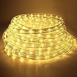 COCOMIA 6 Meter LED Lichterschlauch Außen, Wasserfest LED Schlauch für Auße, Dekoration und Beleuchtung LED Lichterschlauch für Halloween, Garten, Weihnachten, Hochzeit, Party, Warmweiß