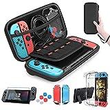 HEYSTOP Zubehör für Nintendo Switch - Nintendo Switch Tasche + Nintendo Switch Hülle Transparent...