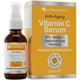 Vitamin C Serum Hochdosiert 20% 60ml | Vegane Kosmetik für Gesicht – Dekolleté | Mit Hyaluronsäure und Aminosäurekomplex | Ohne Tierversuche - Nachhaltige Herstellung