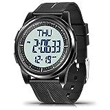 WIFORT Digital Uhren Herren Damen, 5 ATM Wasserdicht Armbanduhr mit EL Hintergrundbeleuchtung Duale...