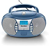 Karcher RR 5025-C tragbares CD Radio (CD-Player, Boomboxen, UKW Radio, Batterie/Netzbetrieb, AUX-In)...