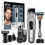 Braun 10-in-1 Multi-Grooming-Kit MGK7020 – Bartpflege Set für Herren mit Barttrimmer, Körperhaartrimmer, Haarschneider, schwarz/silber