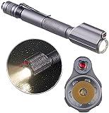 KryoLights Laser Lampe: 2in1-Profi-Pen-Light, LED-Taschenlampe & Laser-Pointer, 110 lm, 3 W...