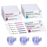 MomMed 80 Ovulationstest und 25 Schwangerschaftstest(HCG25-LH80), HCG teststreifen, LH teststreifen mit 105 Urinbechern, Ovulation Tests, Hochgenauer Fruchtbarkeitstest für Frauen