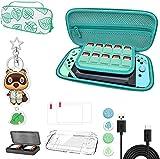 Nintendo Switch Tragetasche, Animal Crossing Case Kit mit Zubehör, Tragbare Animal Crossing Aufbewahrungshülle mit Griff für Nintendo Switch, staubdicht, stoßfest Mit Zubehör [13 in 1 Set]