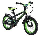 BIKESTAR Kinderfahrrad 14 Zoll für Mädchen und Jungen ab 4 Jahre   Kinderrad Urban Jungle   Fahrrad für Kinder Schwarz & Grün   Risikofrei Testen