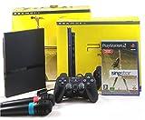 PlayStation 2 Konsole PS2 Slim + SingStar Legends (inkl. Mikrofone u. Controller)
