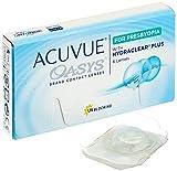 ACUVUE OASYS for Presbyopia – 2-Wochen-Linsen für Tag und Nacht – 0,75 dpt & BC 8.4, Medium – Nah-, Zwischen- & Fernbereich – UV Schutz, Austrocknungsschutz – 6 Linsen