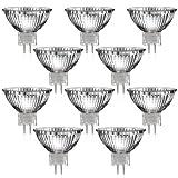 10er Set MR16 Halogen Strahler mit GU5,3 Sockel (warm-weiß, 12 Volt AC, 35 Watt, Lampe, Leuchtmittel, Haushaltspack, 12V, 35W)