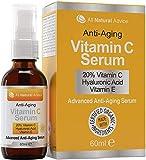 Vitamin C Serum Hochdosiert 20% 60ml   Vegane Kosmetik für Gesicht – Dekolleté   Mit Hyaluronsäure und Aminosäurekomplex   Ohne Tierversuche - Nachhaltige Herstellung