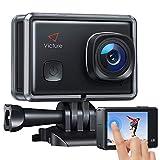 Victure AC900 Action Cam Echte 4K 20MP EIS WiFi Touchscreen Unterwasserkamera wasserdichte 30M Helmkamera mit 2 × 1350mAh Batterien