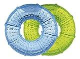 Goldi Zahnungshilfe - Beißring/Kühlring im Doppelpack (blau+grün)