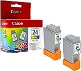 Canon Tintenpatrone BCI-24 C Doppelpack, mehrfarbig