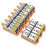 ESMOnline 10 komp. Druckerpatronen zu Canon PGI-35BK CLI-36 Canon PIXMA iP110 wb PIXMA iP110 PIXMA iP100 with Battery (WB) PIXMA iP100